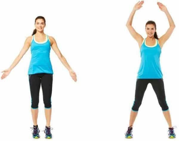 Jumping jacks exercise